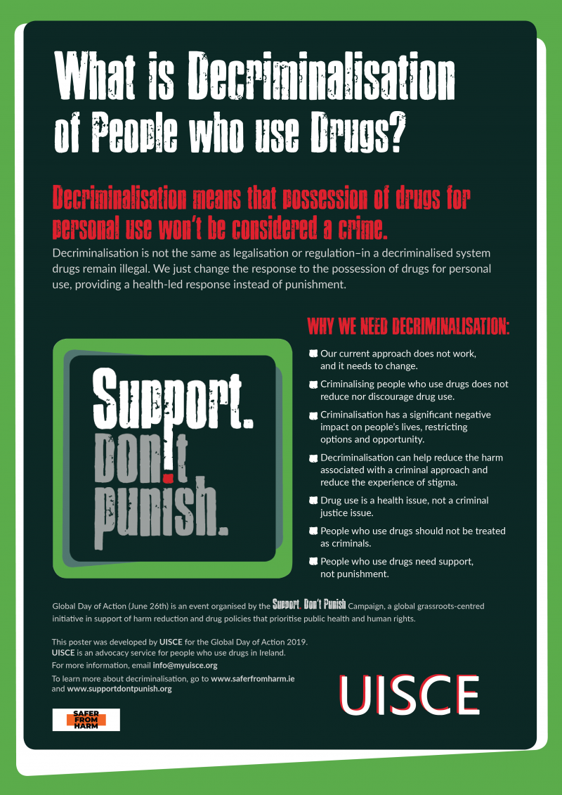 Decriminalisation of People who Use Drugs
